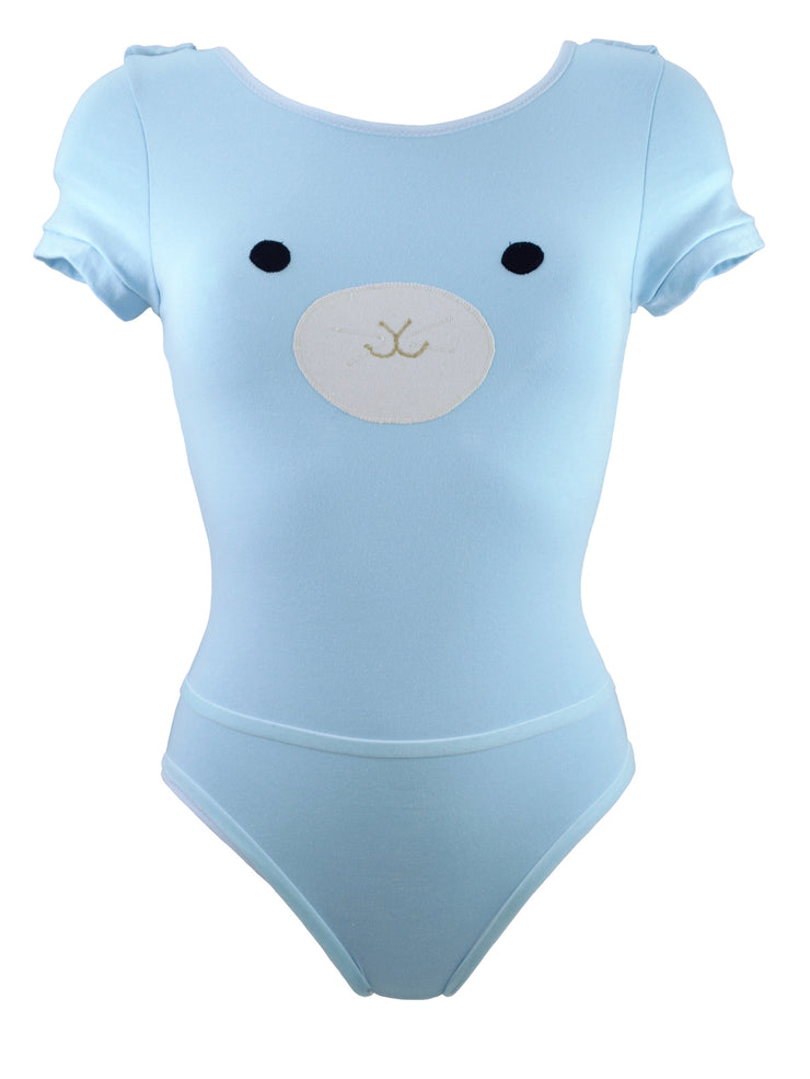 Blue bunny bodysuit for womans underwear with detachable harness by knickerocker