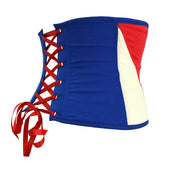 Captain america lace up corset by knickerocker