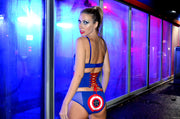 cute girl in captain america lingerie by knickerocker