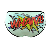 wham comic book words cartoon text panties by knickerocker