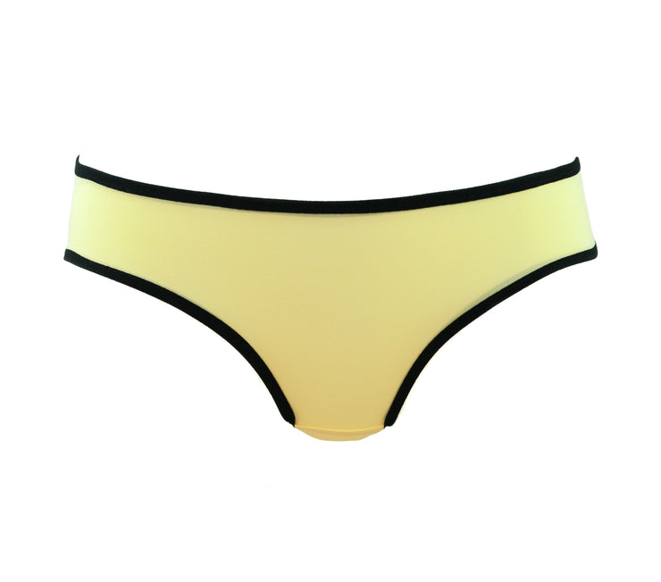 yellow panties with cartoon word on the back by knickerocker