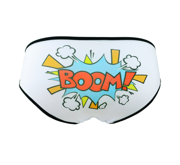 comic book cartoon text Boom panties by knickerocker