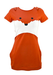fox face mini dress with ears for women by knickerocker