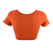 back of Fox Face Crop Top with Ears for women by knickerocker
