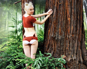 cute girl in woodland wearing fox lingerie set by knickerocker