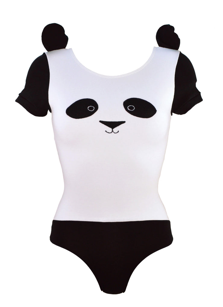 cute Panda Bodysuit with Ears for womens lingerie by knickerocker