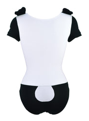 back of Panda Bodysuit with Ears showing tail for women by knickerocker