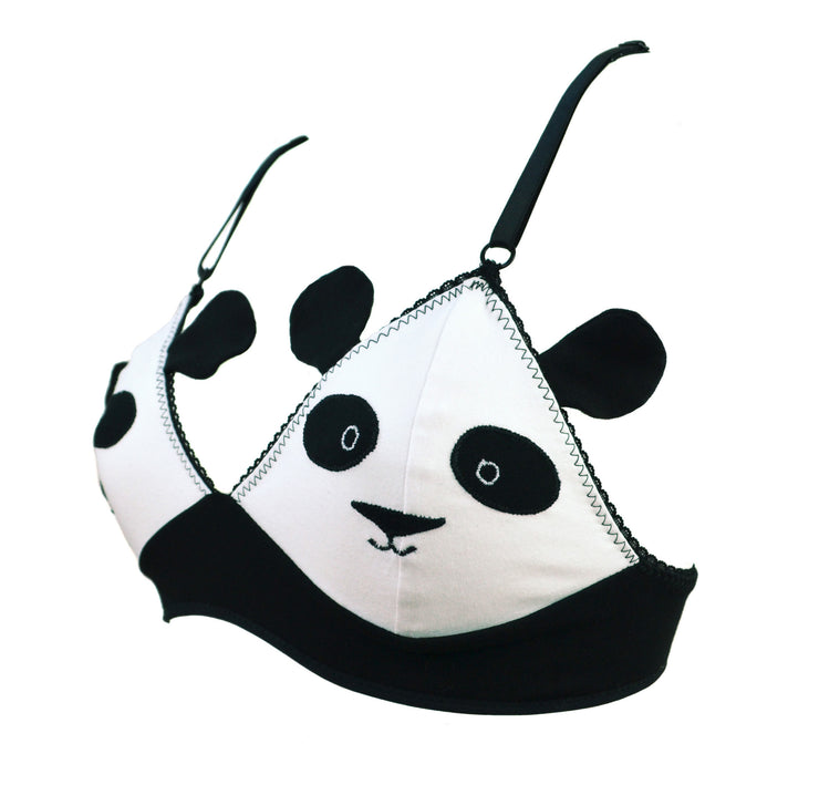 Panda Face Bra with Ears by knickerocker