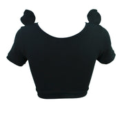 back of Panda Face Crop Top with Ears t shirt by knickerocker