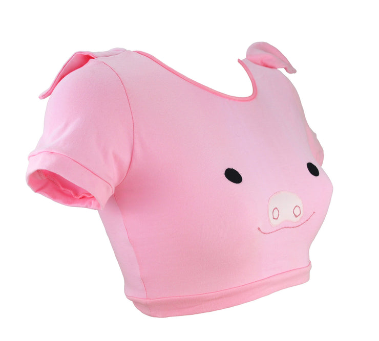 Pig Face Crop Top with Ears for women by knickerocker