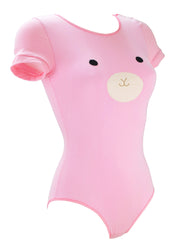 Pink Bunny Bodysuit all in one with Ears by knickerocker