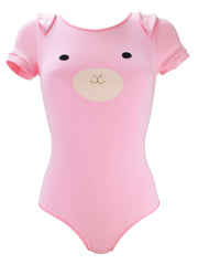 Pink Bunny Bodysuit with Ears by knickerocker