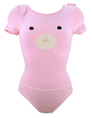 Pink Bunny Bodysuit with Detachable Harness Tail by knickerocker