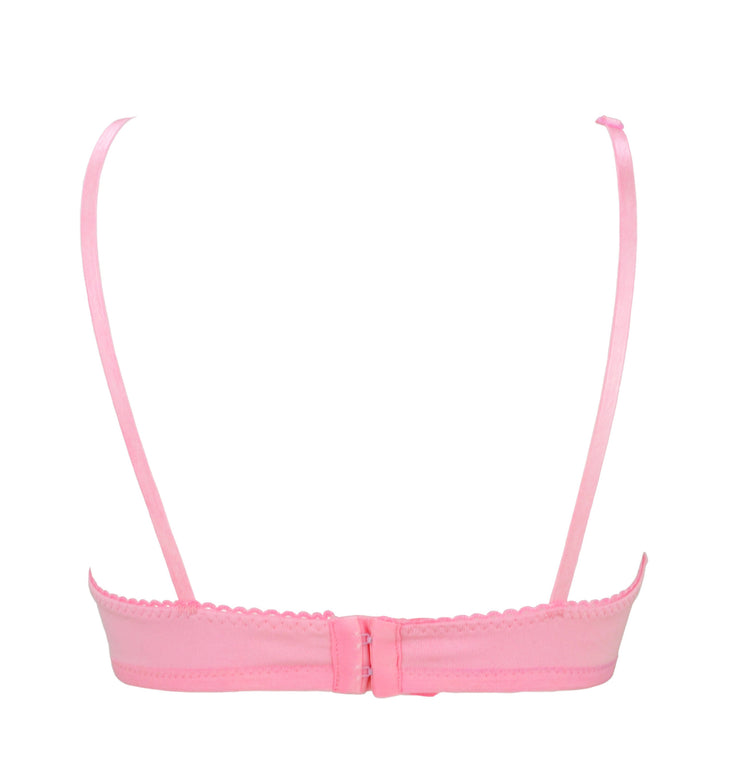 back of Pink Bunny Face Bra with Ears by knickerocker