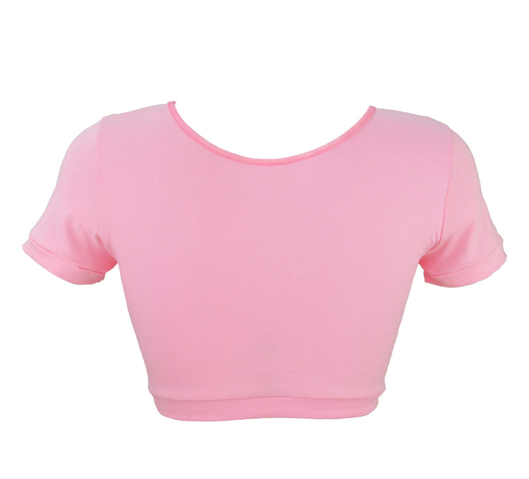 back of Pink Bunny Crop Top with Ears by knickerocker
