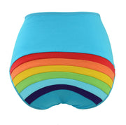 Rainbow Clouds and Sun High Rise knickers underwear for women by knickerocker