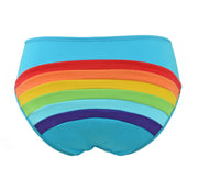 cute Rainbow Clouds and Sun Low Rise blue Panties for women by knickerocker