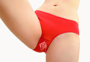 Red Panties with White Vulva Print