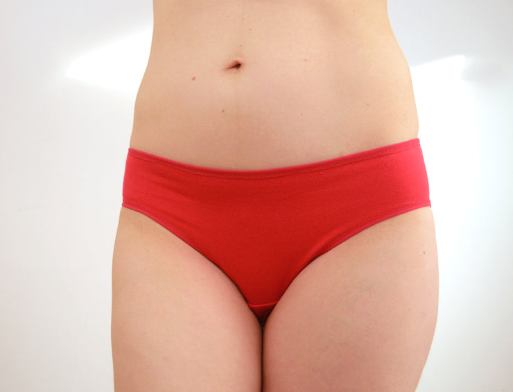 Red Panties with White Pelvis Print