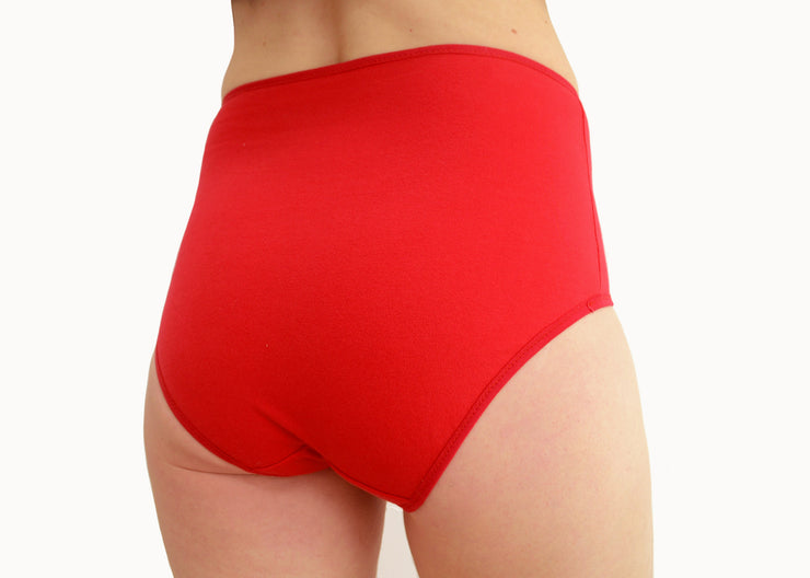 Red Panties with Black Vulva Print