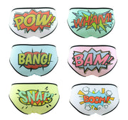 Set of Six Comic Book Words Knickers lingerie set by knickerocker