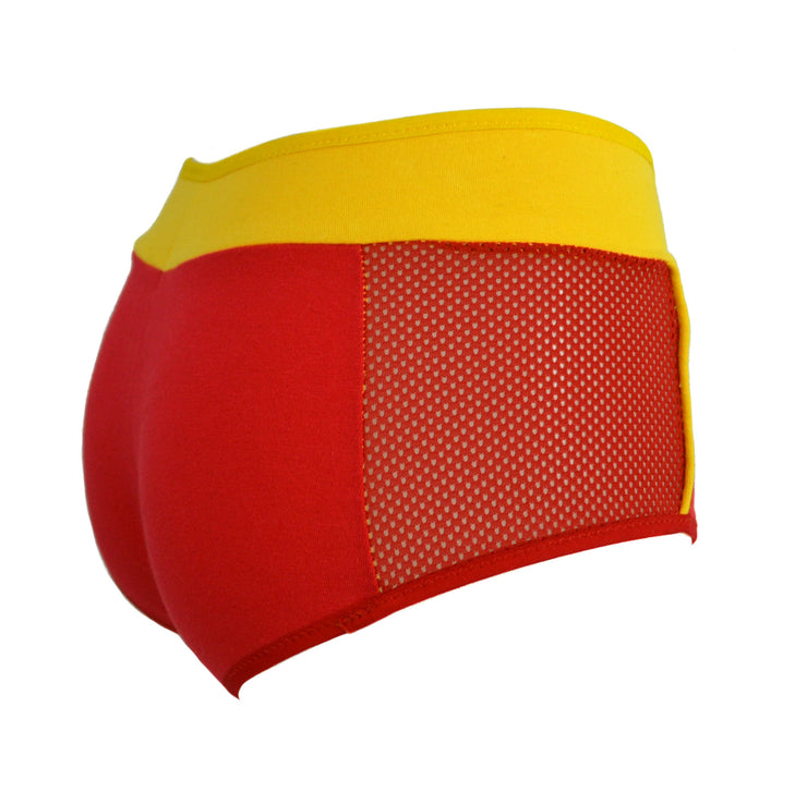 red and yellow The Flash Boy Short Panties by knickerocker