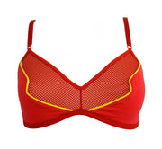 The Flash Inspired Bra red lingerie by knickerocker