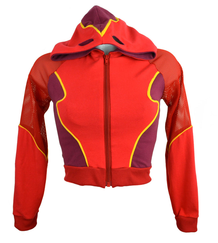 The Flash Inspired hoodie top with mask face by knickerocker