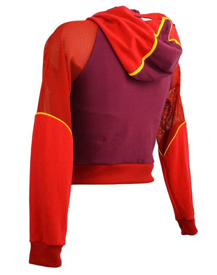 The Flash Inspired Cropped Hoodie Mask by knickerocker