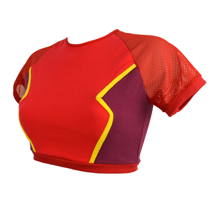The Flash Inspired Crop Top t shirt by knickerocker
