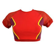 The Flash Inspired red Crop Top by knickerocker