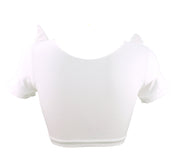 Unicorn Crop Top with Plush 3D Horn and Ears for women by knickerocker