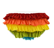 White Panties with Rainbow Ruffles for women by knickerocker