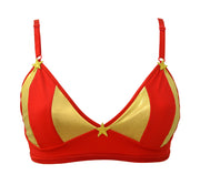 Wonder Woman Red and Gold Bra by knickerocker