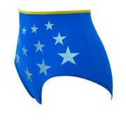 Wonder Woman blue with silver stars High Waist panties by knickerocker
