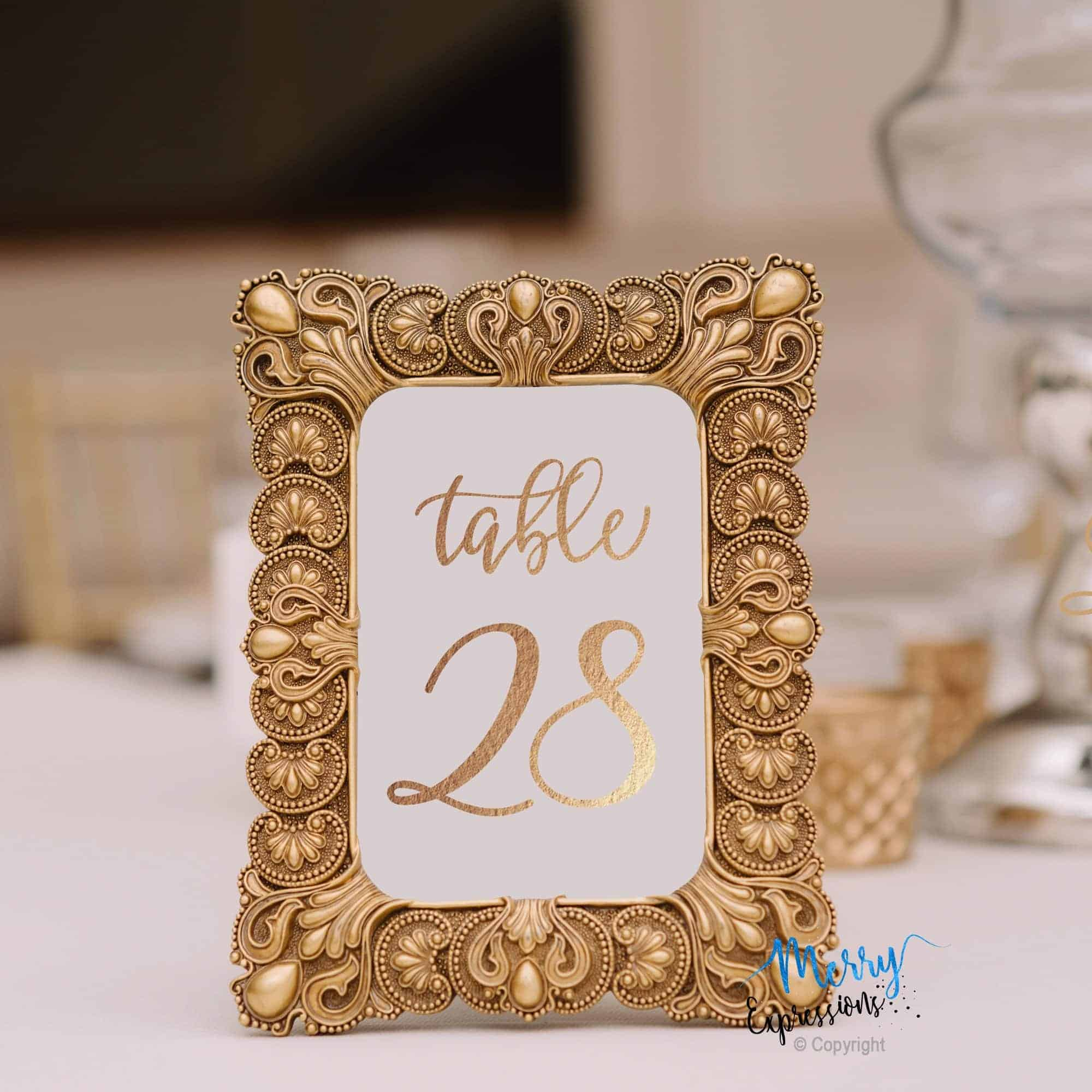 Table Numbers Cards - Merry Expressions