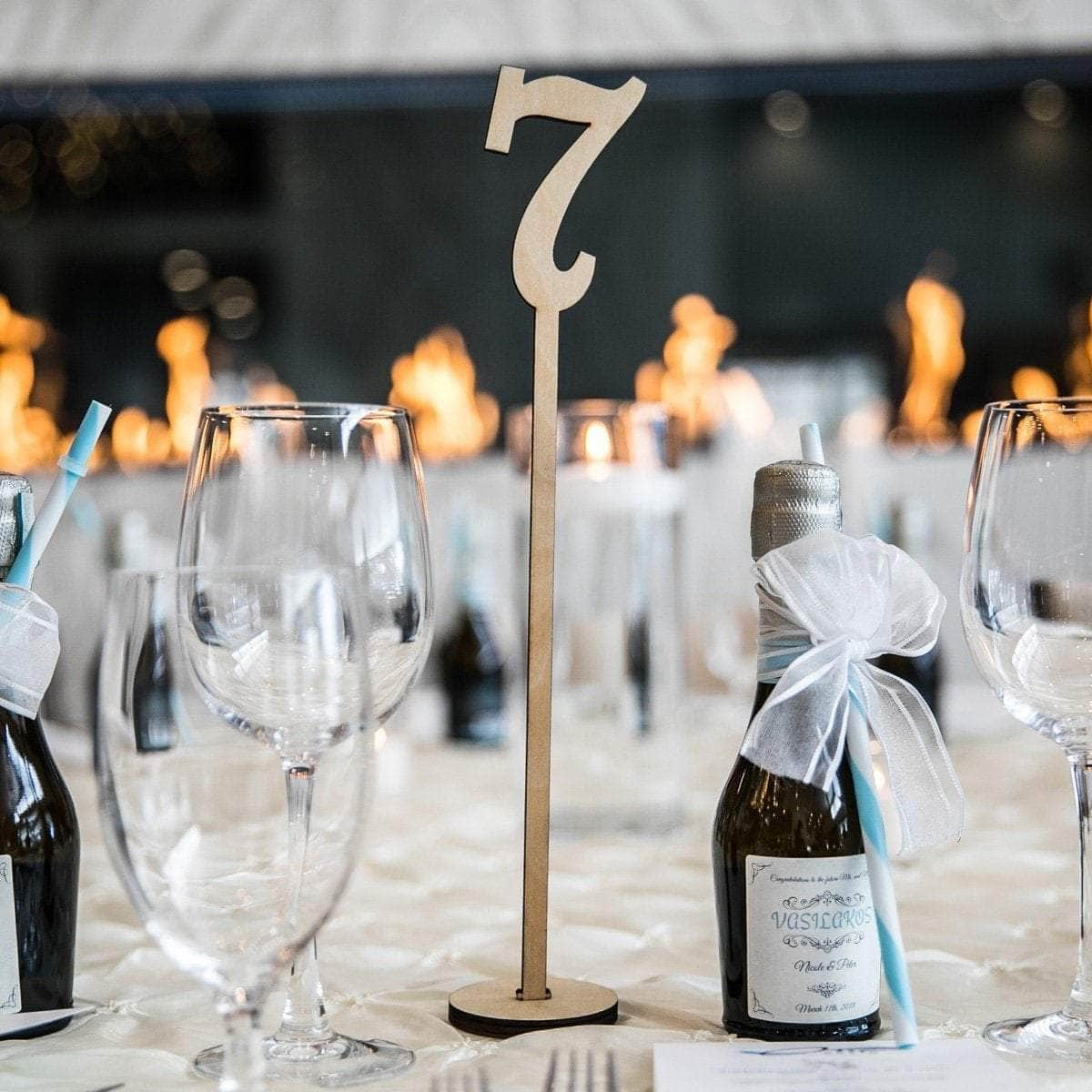 Wooden Table Numbers Set - Merry Expressions