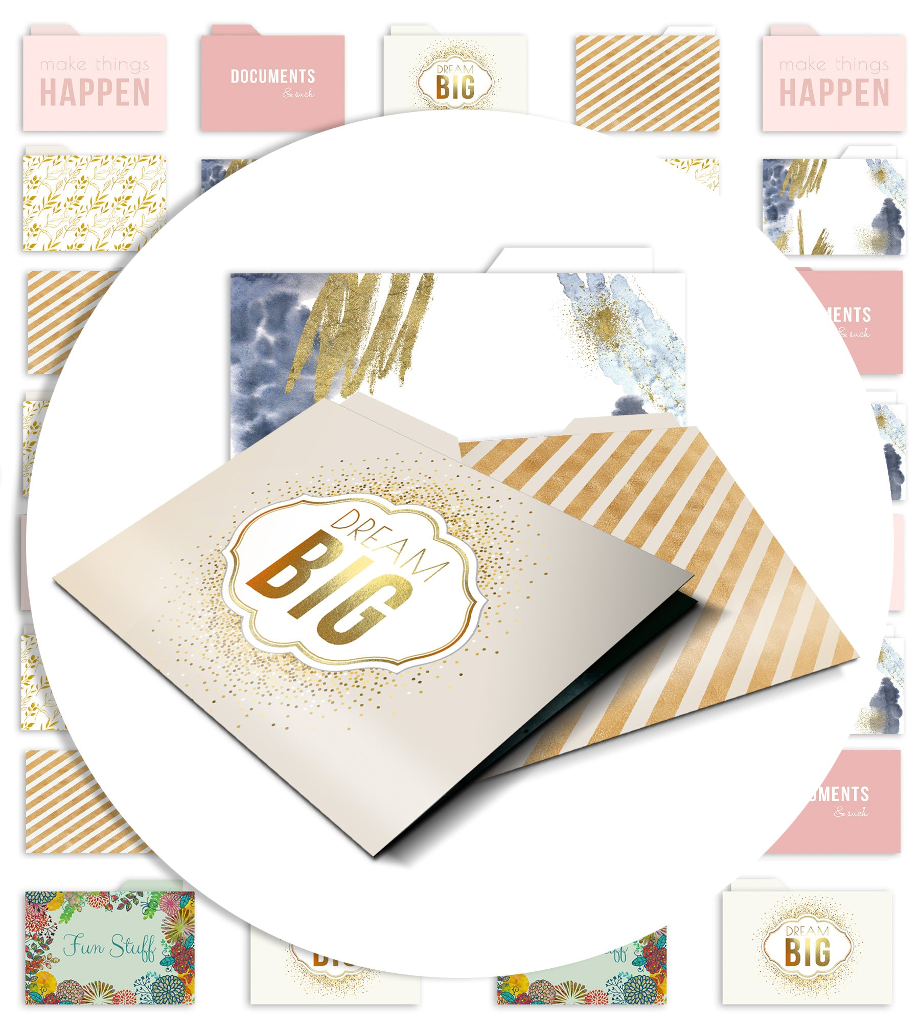 Designer File Folders - Merry Expressions
