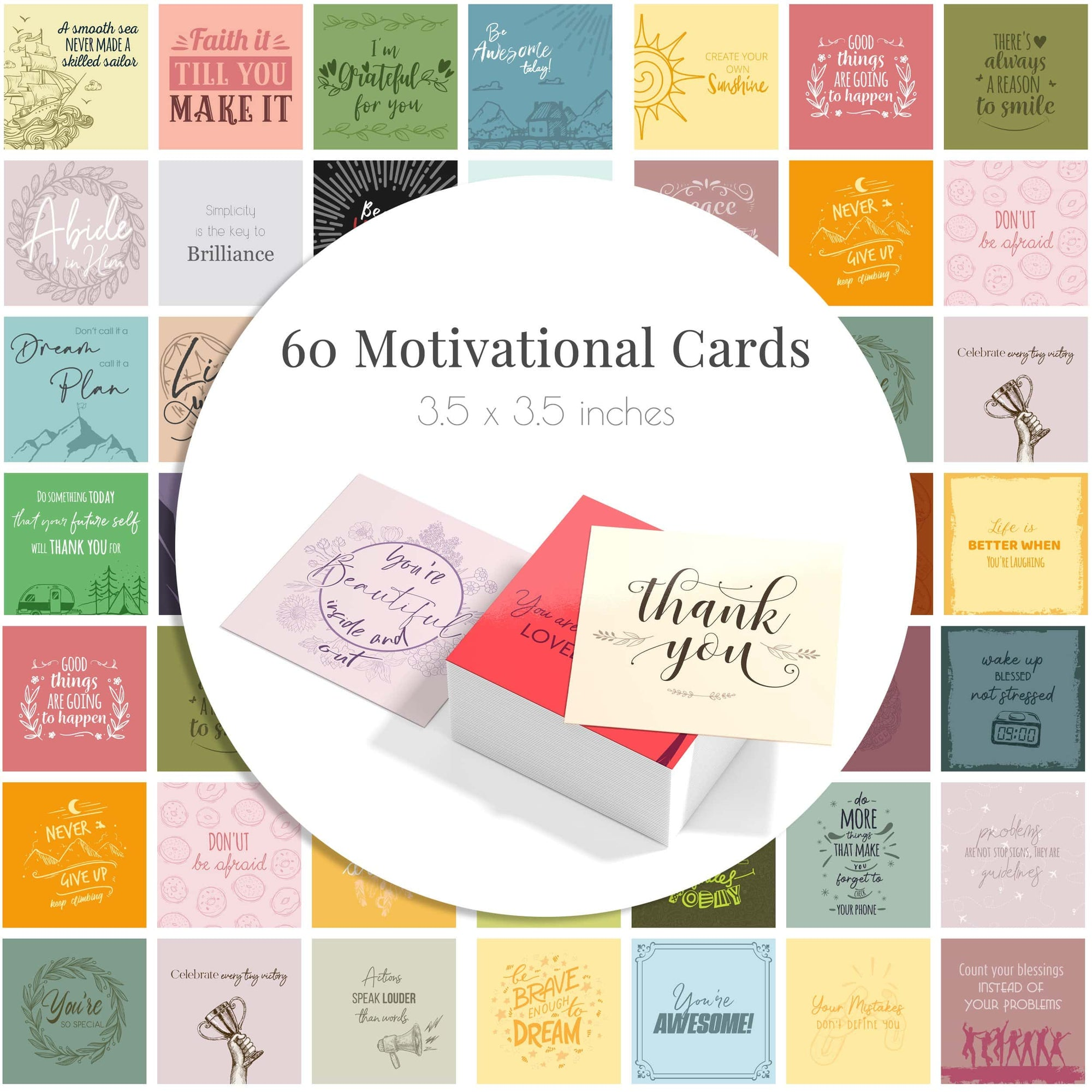 Deck of Encouragement & Affirmation Cards - Merry Expressions