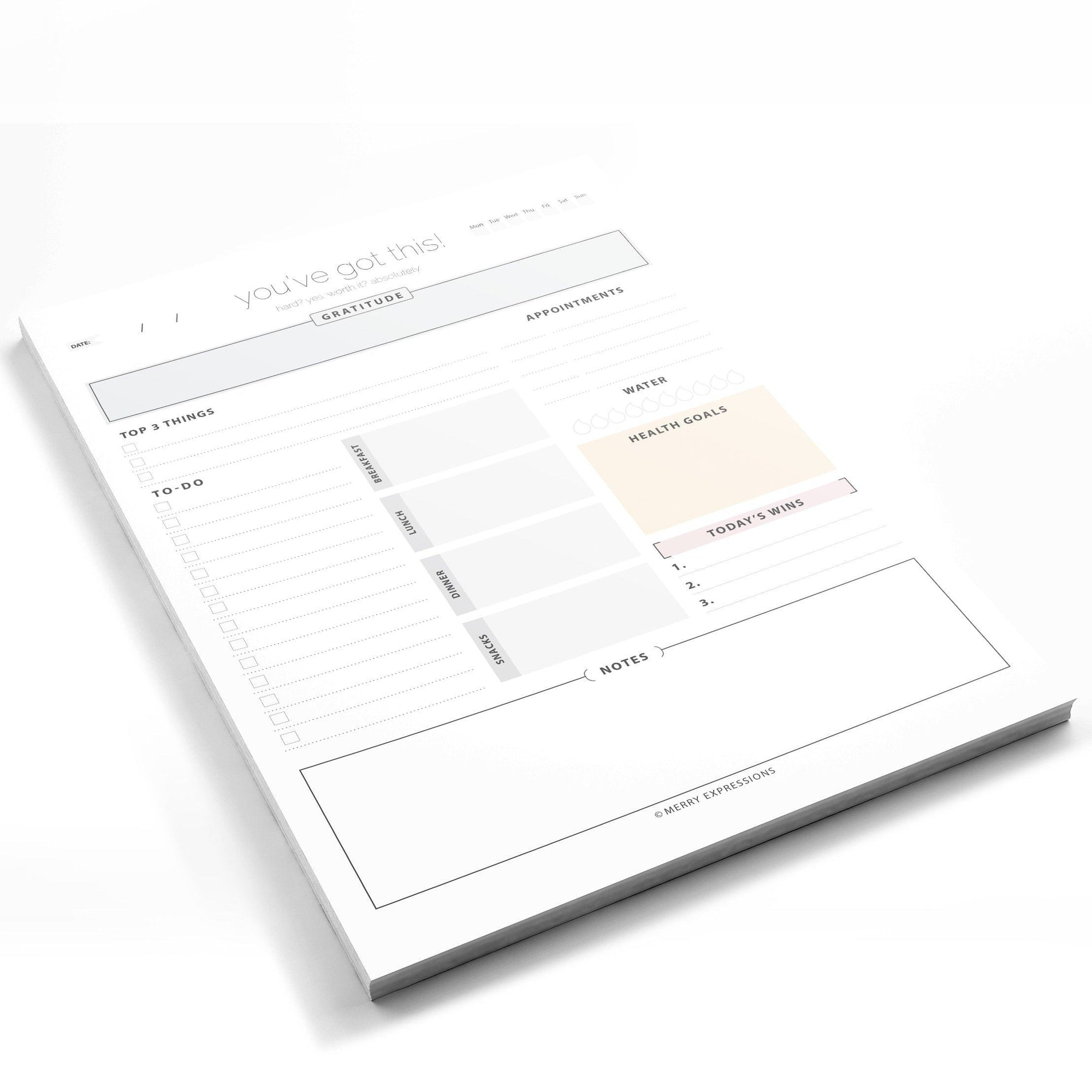 Daily Planner Pad - Merry Expressions
