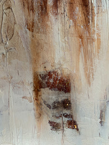 Original Abstract Painting, Large Contemporary Wall Art, Textured Canvas, White, Tan - Jamie Shook Fine Art