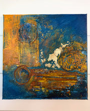 Load image into Gallery viewer, Modern Wall Art, Abstract Painting, Original Painting, Texture, Gold, blue, - Jamie Shook Fine Art