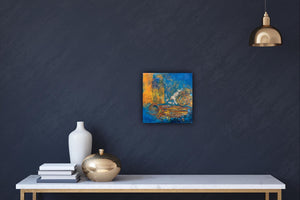 Modern Wall Art, Abstract Painting, Original Painting, Texture, Gold, blue, - Jamie Shook Fine Art