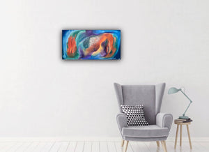 contemporary art, vivid color abstract painting - Jamie Shook Fine Art
