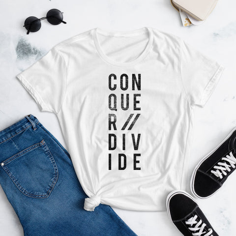 Conquer // Divide t-shirt Women's
