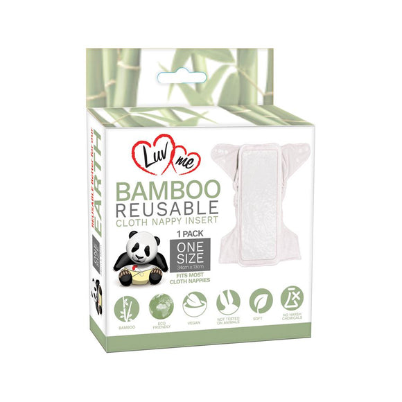Bamboo Reusable Cloth Nappy Inserts