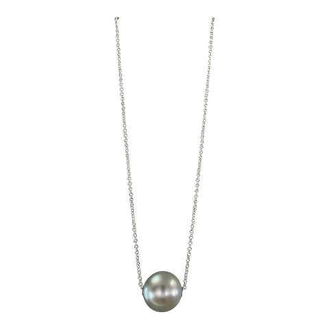 Grey & Green Tahitian Pearl necklace