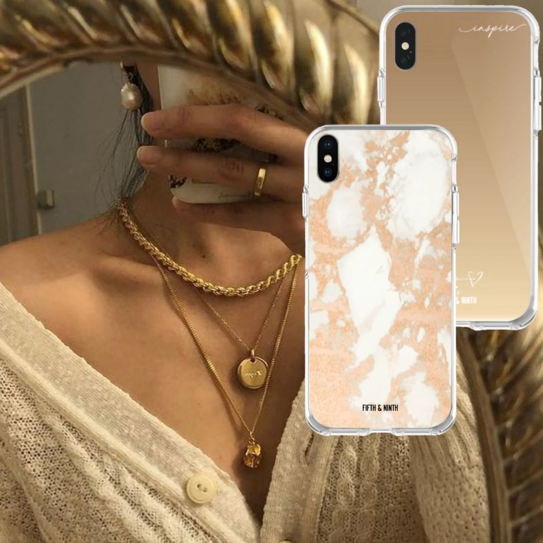 gold iphone cases and jewelry