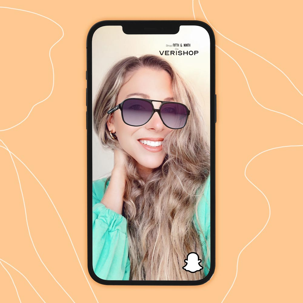 new verishop fifth and ninth snapchat filter for sunglasses