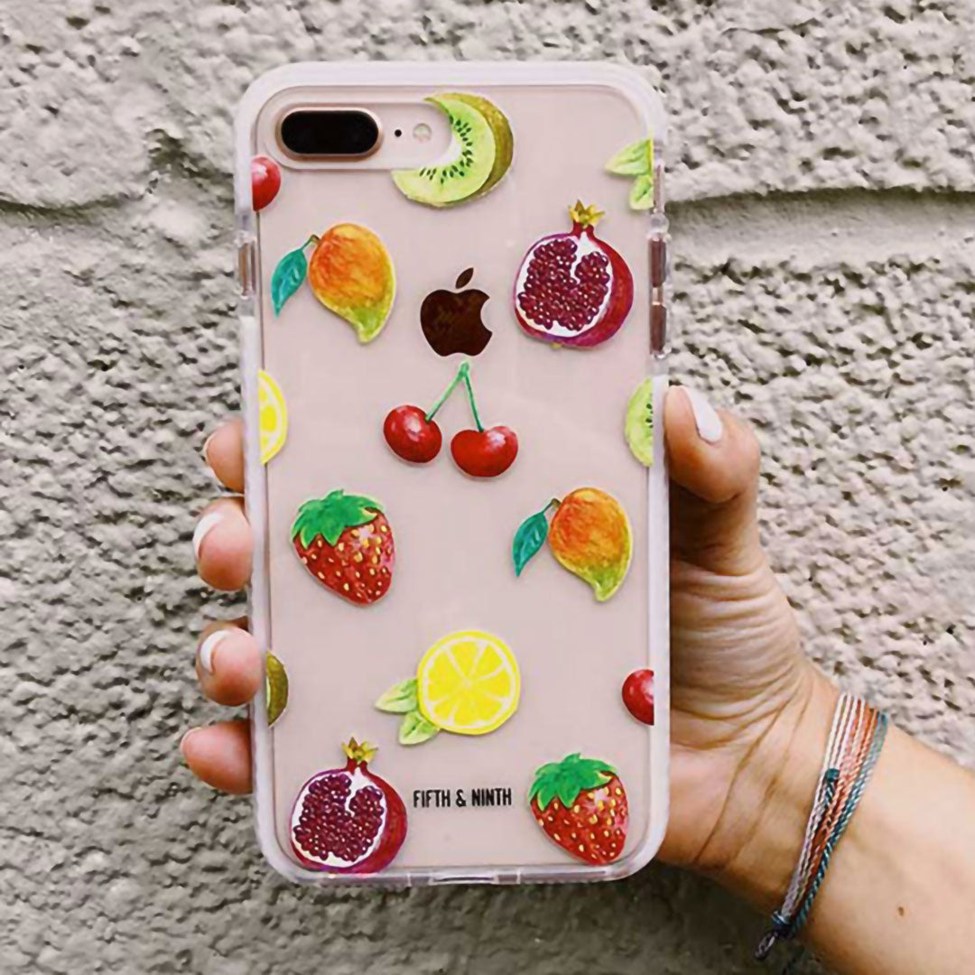 watercolor fruit iPhone case for summer